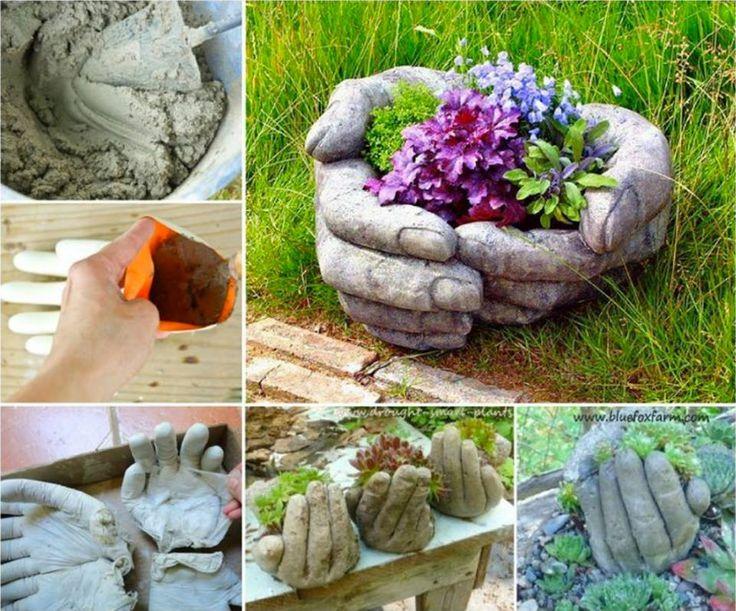 Поделки из цемента и гипса для сада своими руками мастер-класс 45