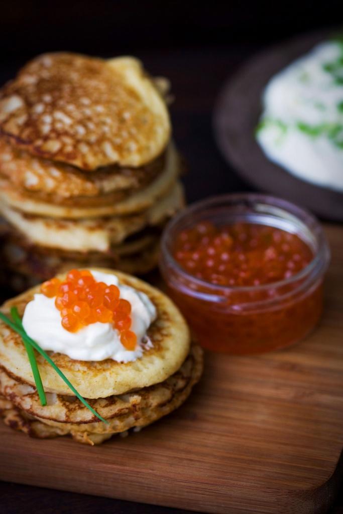 buckwheat blinis with caviar