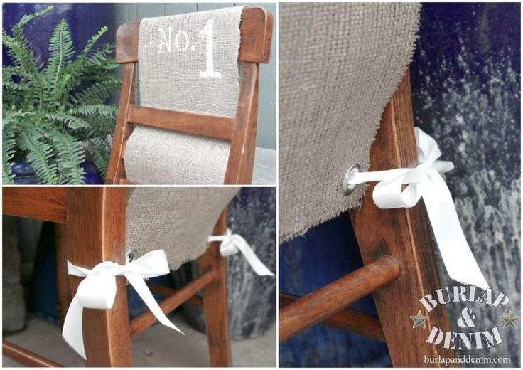 Farmhouse burlap chair covers front porch pinterest