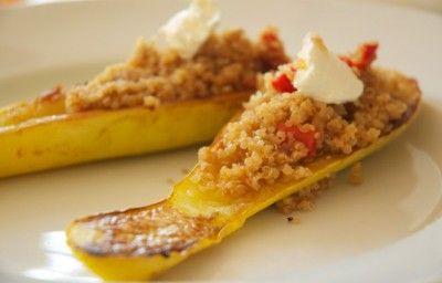... Cinco de Mayo: Yellow Squash and Red Pepper Quinoa Boats