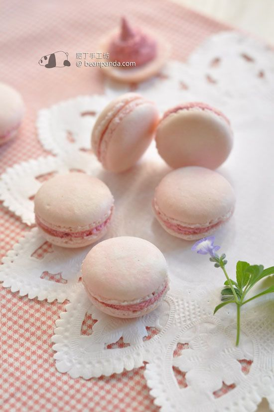 Raspberry Mousse Tartelettes And Pink Macarons Recipe — Dishmaps