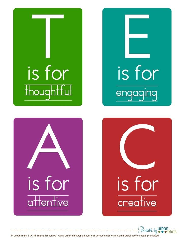 TEACHER is for....