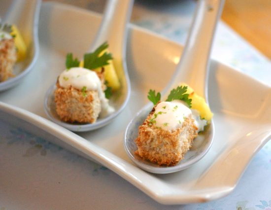 ... Crusted Tofu & Pineapple Bites with Creamy Green Curry Sauce - Vegan