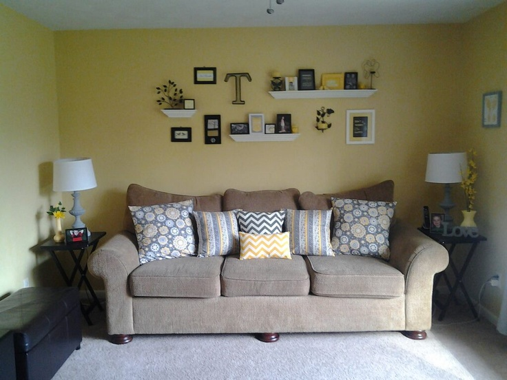 Yellow gray black living room decor living room Yellow living room accessories