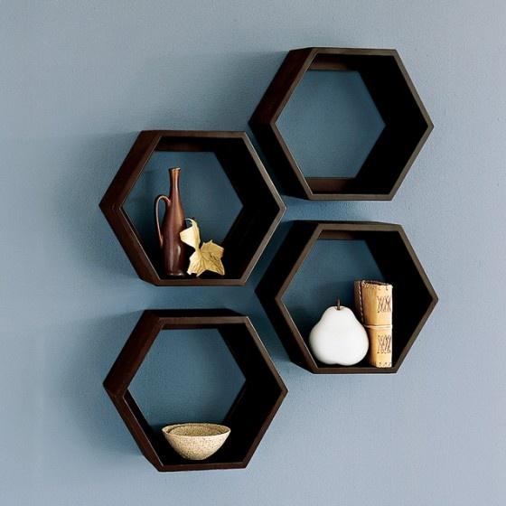 Amazing Hexagonal Wall Shelf Home Ideas Pinterest