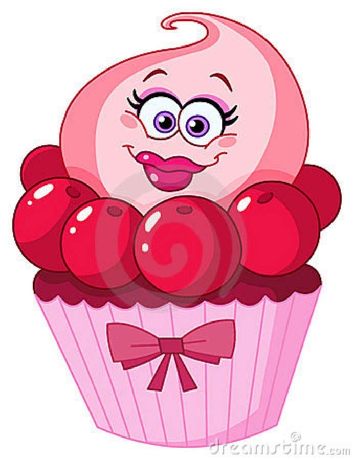 Dessert with cartoon faces on it | Cute Cupcake Stock ...