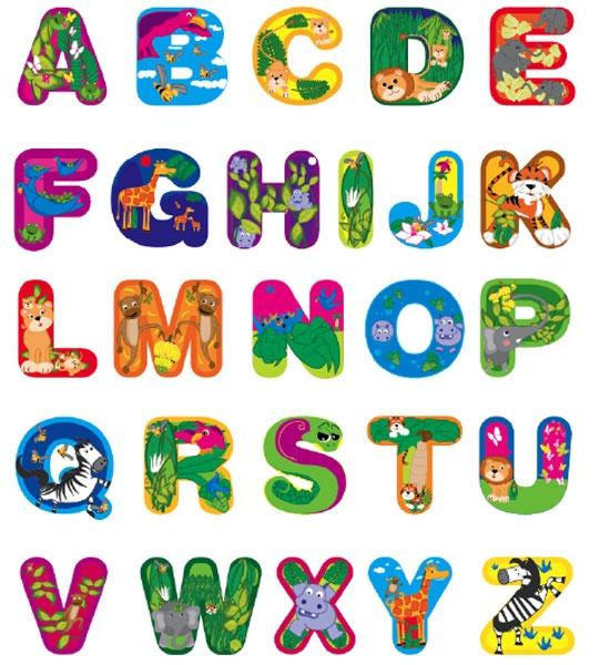 Jungle Animal ABC Stickers | Cool Crafts | Pinterest