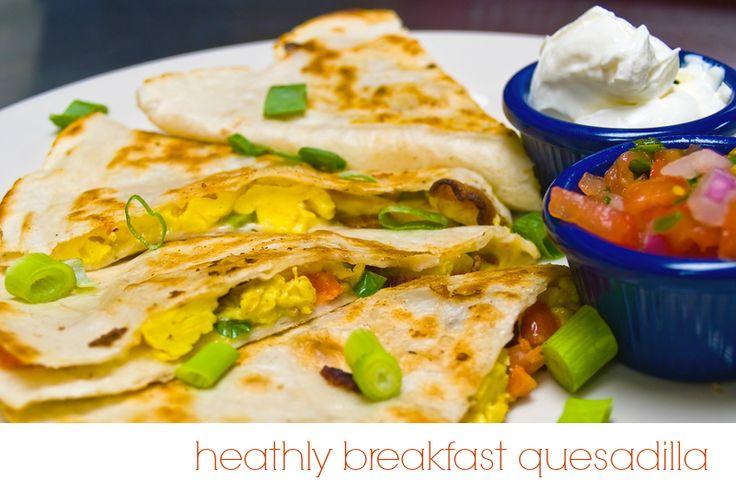 Healthy Breakfast Quesadilla | living healthy | Pinterest