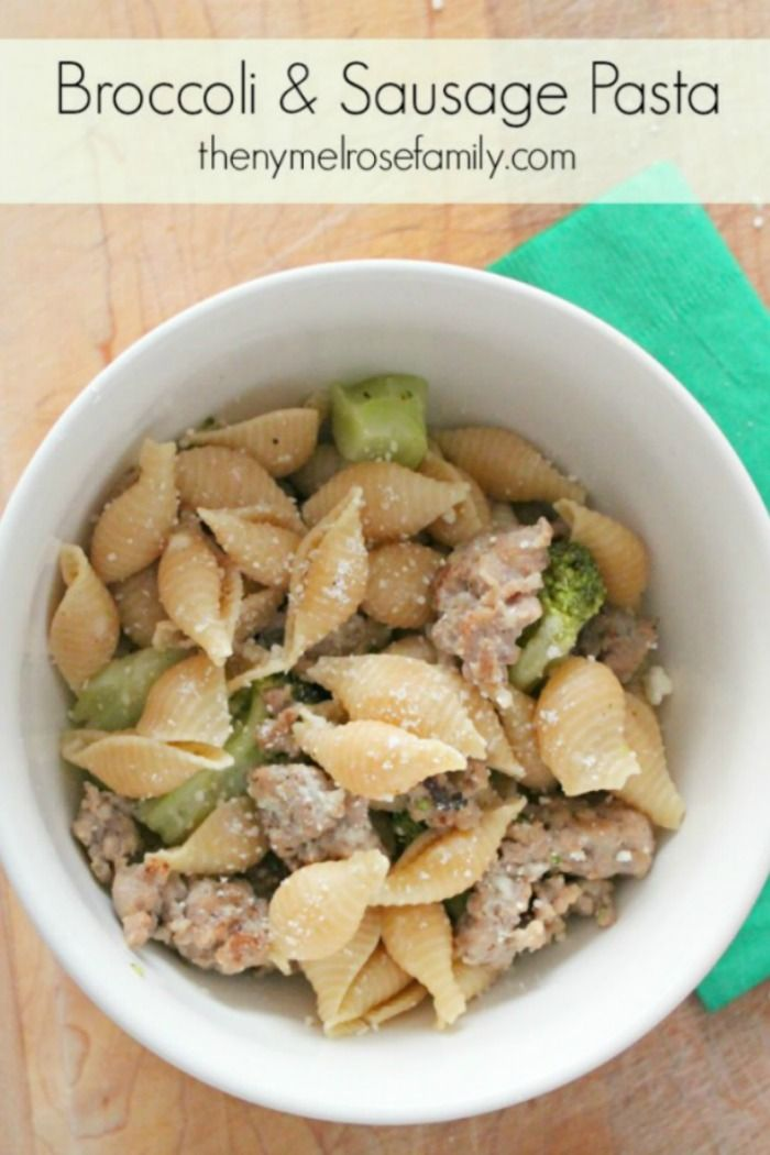 Our Broccoli & Sausage Pasta is not only delicious it's also quick an...