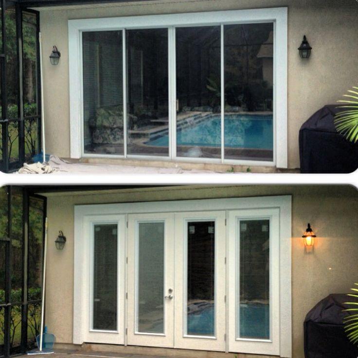 Sliding Glass Door Unit With Energy Efficient Fiberglass French Doors