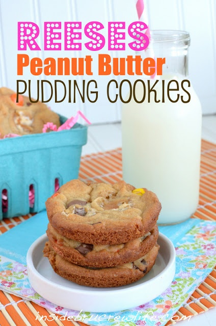 Reeses Peanut Butter Pudding Cookies - Inside BruCrew Life