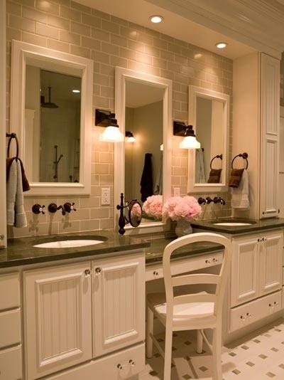 bathroom with built in vanity space dream home