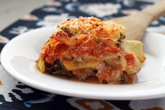 Noodleless Veggie Lasagna = Zucchini + Squash + Carrots + Cottage ...