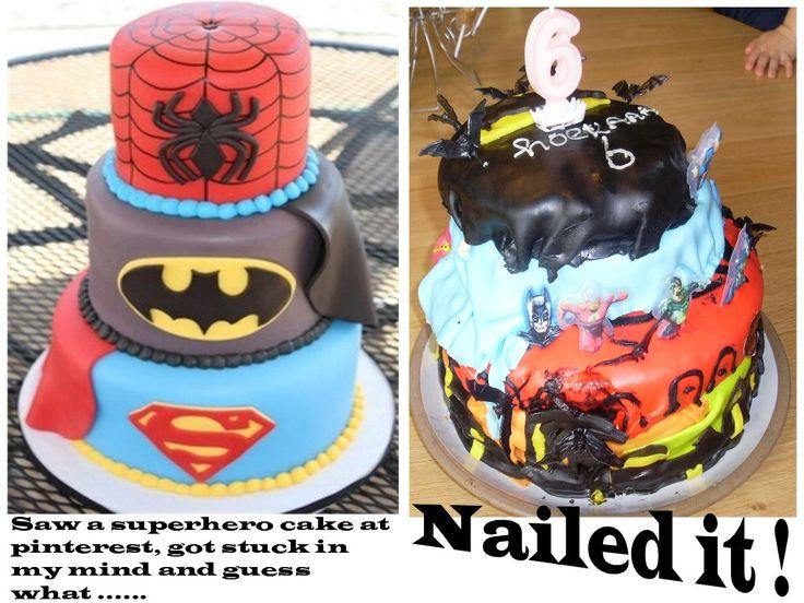 Pinterest fail !! saw some superhero cake s at pinterst ...
