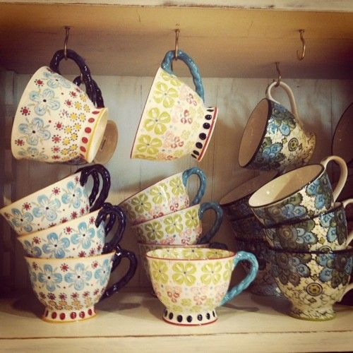 Hand-painted Tea Cups