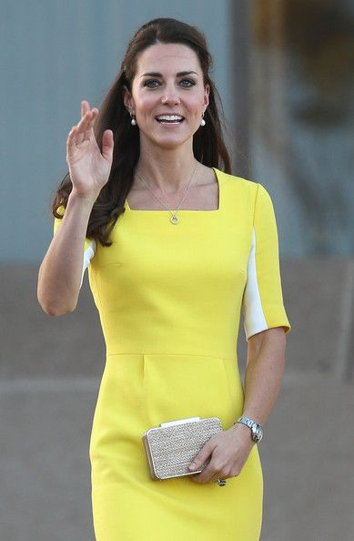 Catherine, Duchess of Cambridge greets the crowds of public outside Sydney Opera House on April 16, 2014 in Sydney, Australia.