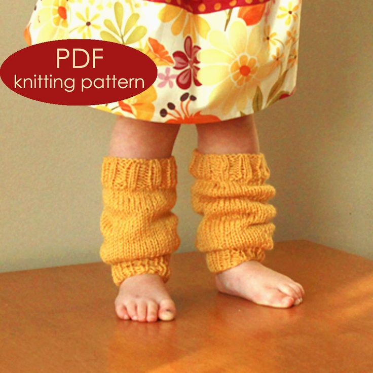 Pattern for Toddlers Knitted Leg Warmers