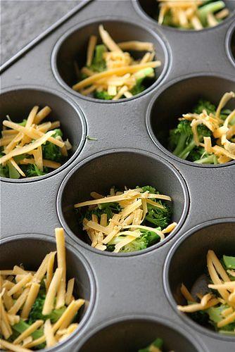 Mini Egg Frittatas with Broccoli, Cheddar Cheese & Chipotle Pepper ...