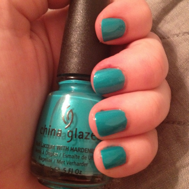 Turned Up Turquoise Neon by China Glaze | nails, shoes, hair, clothes ...