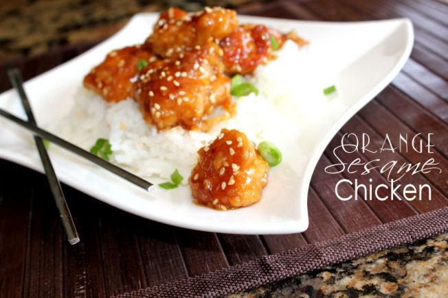 Made this tonight-- orange sesame chicken --it came out good! Would ...