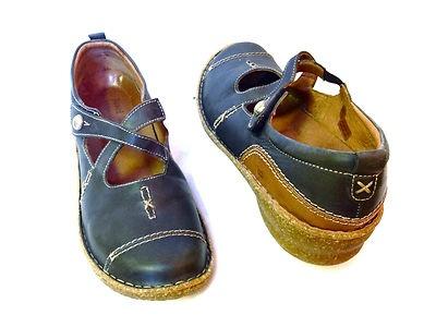 Joseph Seibel Womens German Black Leather Strappy Comfort Shoes 10 5