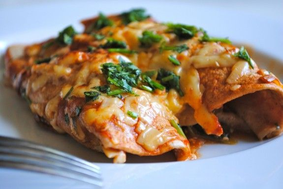 Chicken and Spinach Enchiladas. SPINACH!