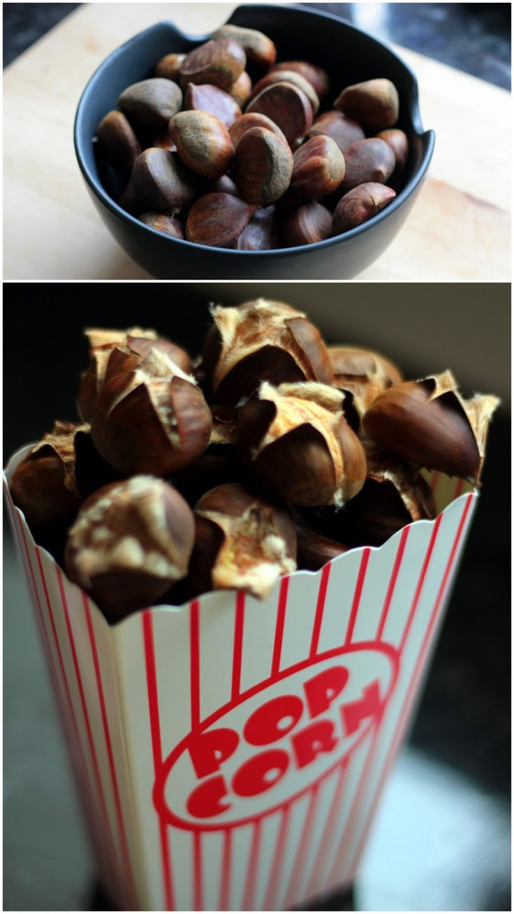 Roasted chestnuts | Christmas recipes | Pinterest