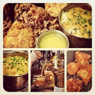 Fried Chicken, Honey Butter, And Biscuit Sandwiches Recipes ...