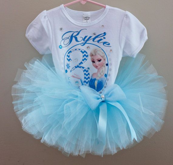 Frozen Birthday Outfit- Princess Elsa from Frozen- Elsa tutu outfit on ...