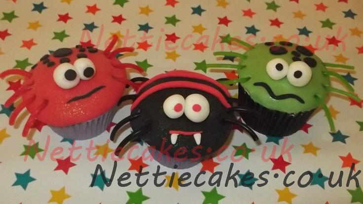 spooky spider cupcakes | Nettiecakes | Pinterest