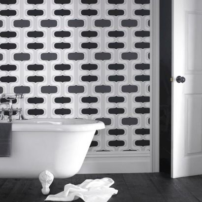 Graham & Brown Groovy Wallpaper - Black/White