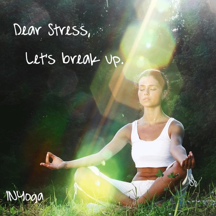 dear stress. let's break up.