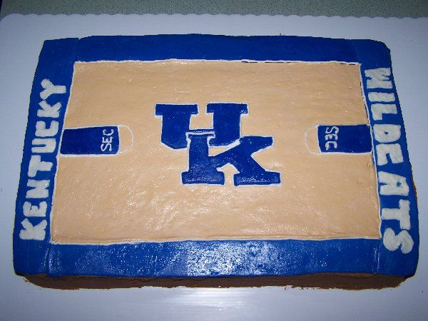 how to make a cake look like a basketball court