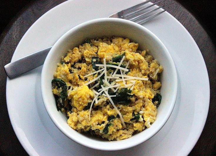 Protein-Rich Breakfast: Spinach Quinoa Scramble