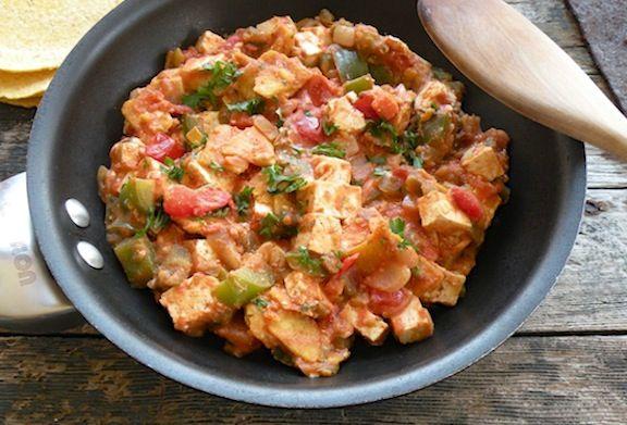 Southwestern Tofu Scramble (Migas)
