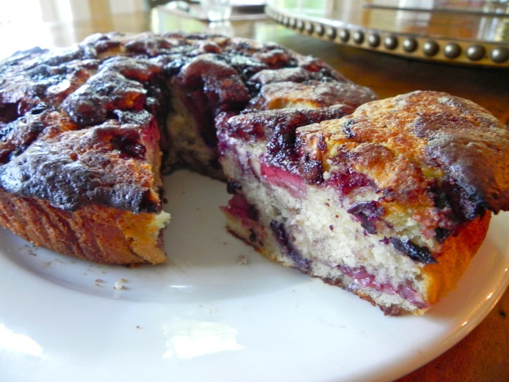 Roasted Strawberry Blueberry Buttermilk Cake, the ultimate breakfast ...