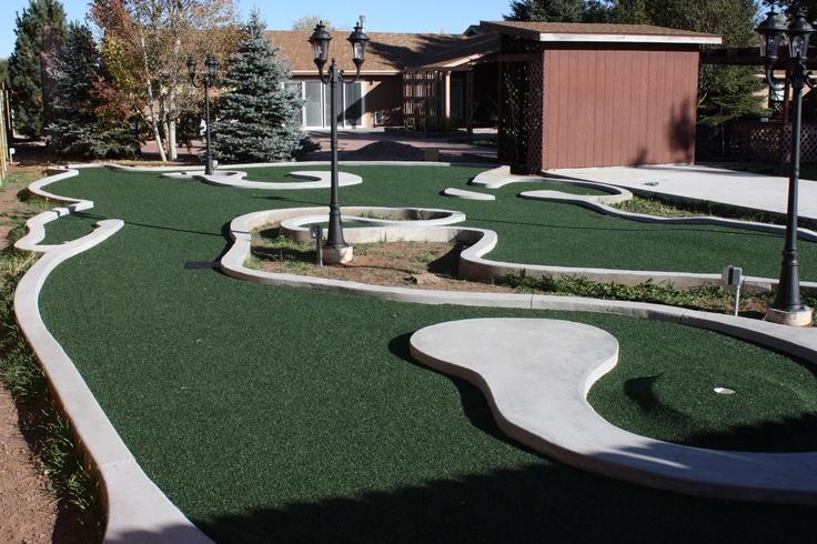 backyard mini golf course obe brothers flooring pinterest