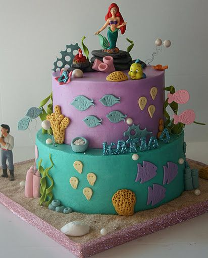 Ariel Cake by creative and delicious sweets (Sandy), via Flickr