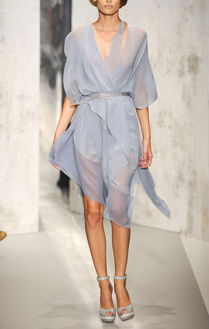 Donna karan silk chiffon cocktail dress cool stuff to for Donna karan wedding dresses