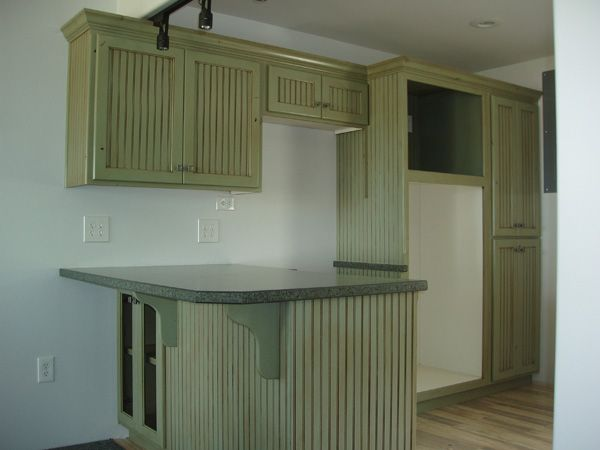 Green Painted Kitchen Cabinets Kitchen Cabinet Ideas