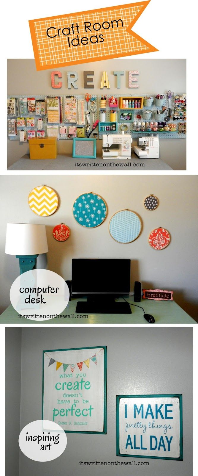 Craft Room Organizing Ideas How To Use That Blank Wall To Organize