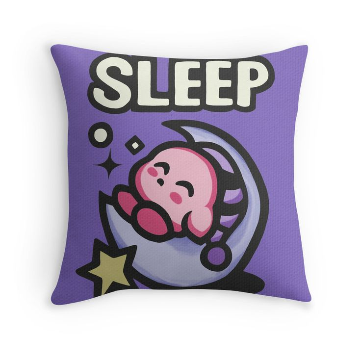 Kirby Sleep | Throw Pillow