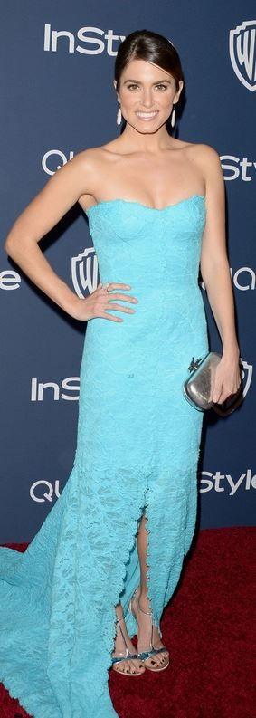 Nikki Reed: Dress Monique Lhuillier Shoes Stuart Weitzman