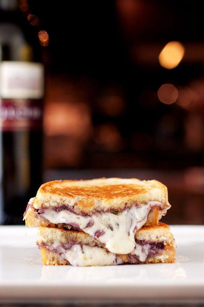 Wine & Cheese Grilled Cheese | bsinthekitchen.com #grilledcheese # ...
