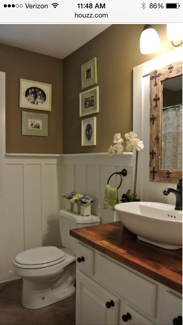 Powder room | Home decor | Pinterest