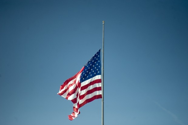 memorial day flag half mast
