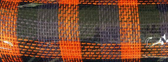 Purple orange black woven paper mesh rr900652 21 inch x 10 yards po