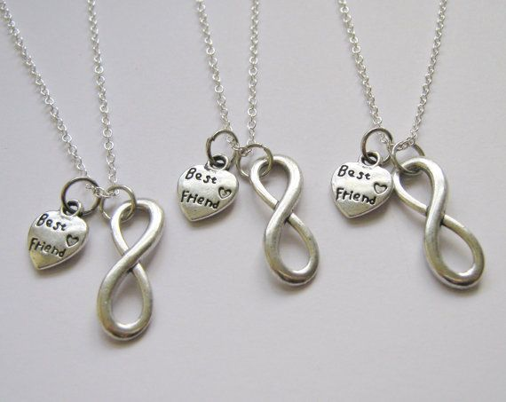 3 infinity best friend necklaces bff