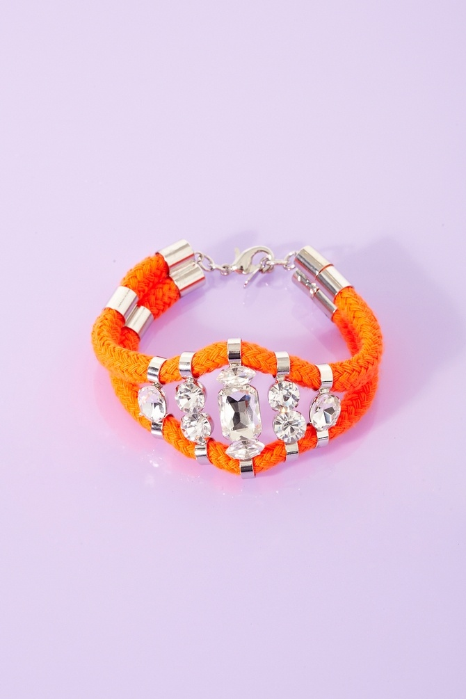 Crystal and neon rope bracelet! #pretty #fashion #jewellery #diy