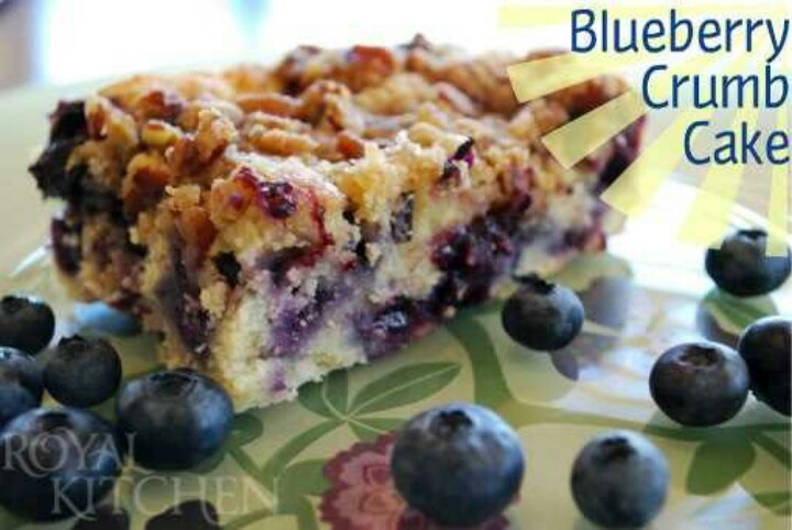 Blueberry crumb cake | some what healthy snack ideas | Pinterest